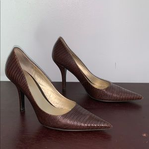 Dark Brown Reptile Heel